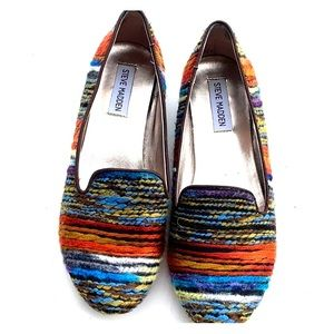 Steve Madden p clasic colorful wool flats